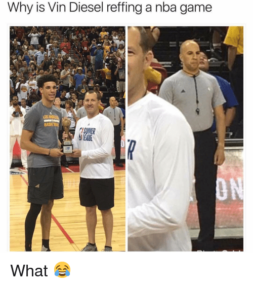 Vin Diesel: Why is Vin Diesel reffing a nba game  Los  SUWER What 😂