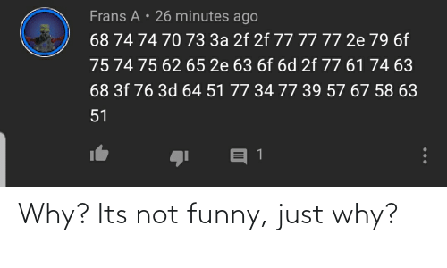 Its Not Funny: Why? Its not funny, just why?
