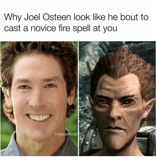 Casted: Why Joel Osteen look like he bout to  cast a novice fire spell at you  @papamoist