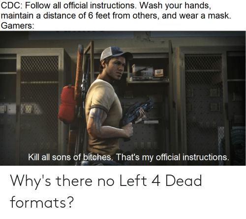 left 4 dead: Why's there no Left 4 Dead formats?