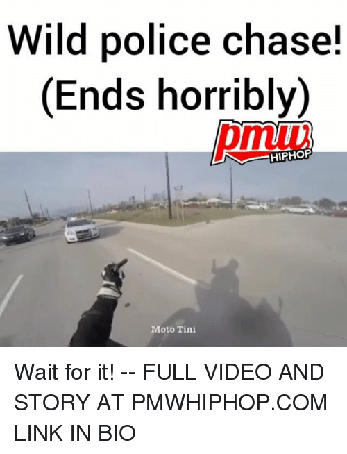 tinie: Wild police chase!  (Ends horribly)  (Ends horribly)  HIPHOF  Moto Tini Wait for it! -- FULL VIDEO AND STORY AT PMWHIPHOP.COM LINK IN BIO