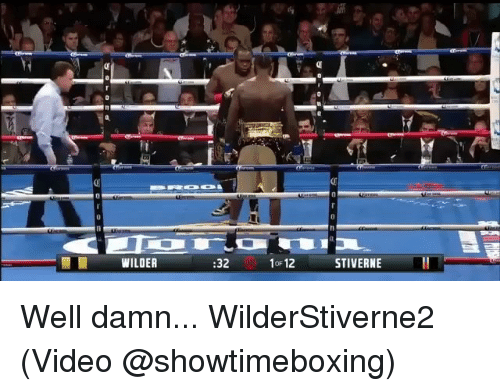 Memes, Video, and 🤖: WILDER  32  STIVERNE  OF Well damn... WilderStiverne2 (Video @showtimeboxing)