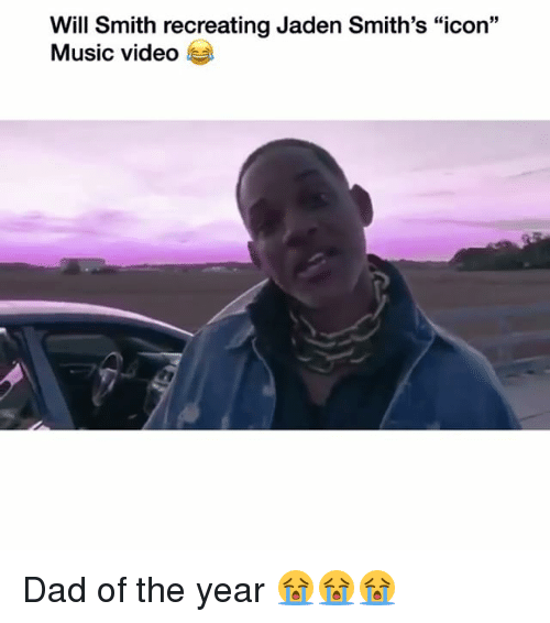 """Dad, Funny, and Music: Will Smith recreating Jaden Smith's """"icon""""  Music video Dad of the year 😭😭😭"""
