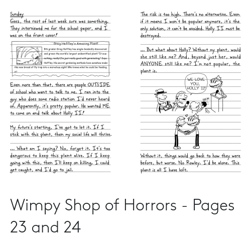 wimpy: Wimpy Shop of Horrors - Pages 23 and 24