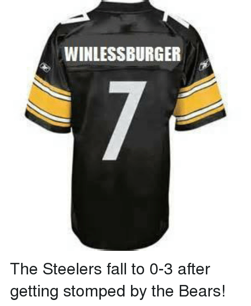 Steelers: WINLESSBURGER The Steelers fall to 0-3 after getting stomped by the Bears!