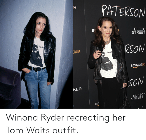 Winona Ryder: Winona Ryder recreating her Tom Waits outfit.