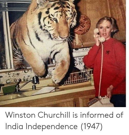 Winston Churchill: Winston Churchill is informed of India Independence (1947)