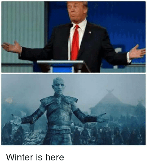 Memes, Winter, and 🤖: Winter is here