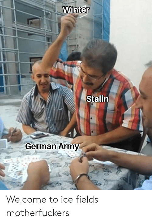 german army: Winter  Stalin  German Army Welcome to ice fields motherfuckers