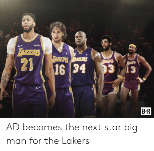 takers: wish  TAKERS  ARERSAES  21  16 34  TAKERS  33 13  B.R  Cudcage AD becomes the next star big man for the Lakers