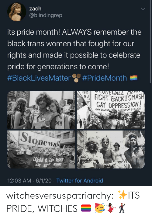 witches: witchesversuspatriarchy:  ✨ITS PRIDE, WITCHES 🏳️‍🌈 🥳💃🏿🕺🏽