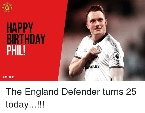 Memes, 🤖, and Defender: WITED  HAPPY  BIRTHDAY  PHIL!  #MUFC  LET The England Defender turns 25 today...!!!