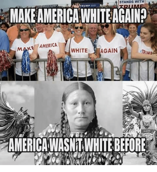 Image result for make america white again meme