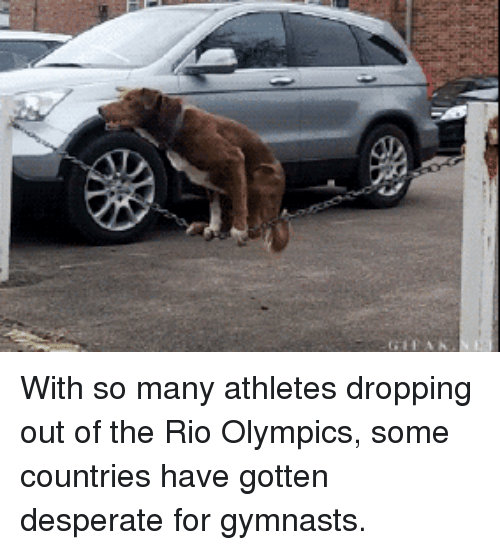 Rio Olympics: With so many athletes dropping out of the Rio Olympics, some countries have gotten desperate for gymnasts.