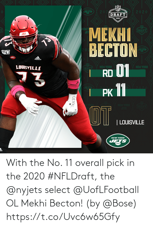 bose: With the No. 11 overall pick in the 2020 #NFLDraft, the @nyjets select @UofLFootball OL Mekhi Becton!  (by @Bose) https://t.co/Uvc6w65Gfy