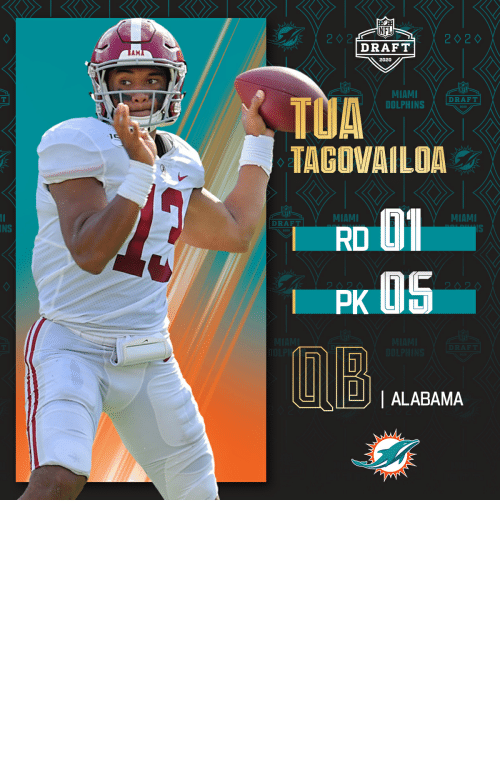 bose: With the No. 5 overall pick in the 2020 #NFLDraft, the @MiamiDolphins select @AlabamaFTBL QB Tua Tagovailoa.   (by @Bose) https://t.co/oYUudU9N6u