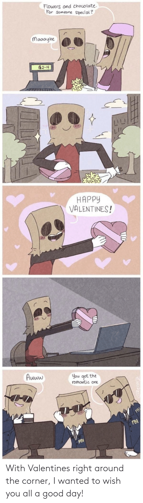 good day: With Valentines right around the corner, I wanted to wish you all a good day!