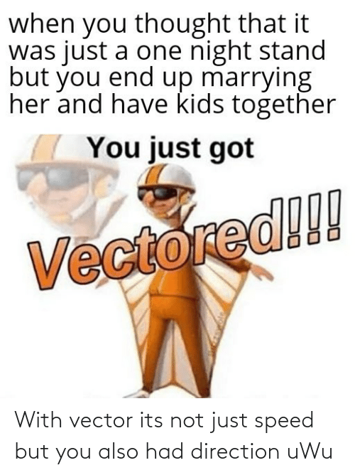 vector: With vector its not just speed but you also had direction uWu