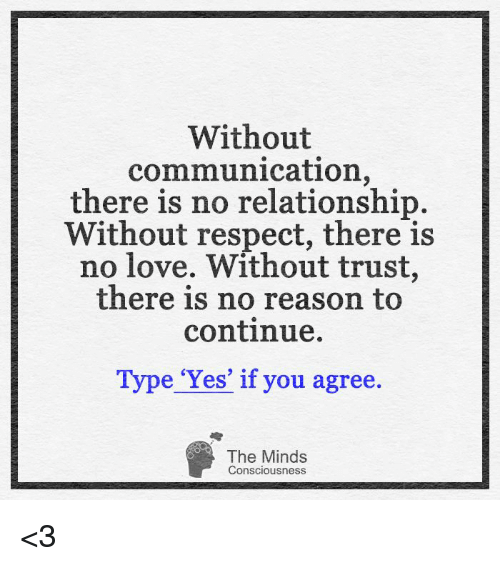 without communication there is no relationship without respect there is 8197622 without communication there is no relationship without respect
