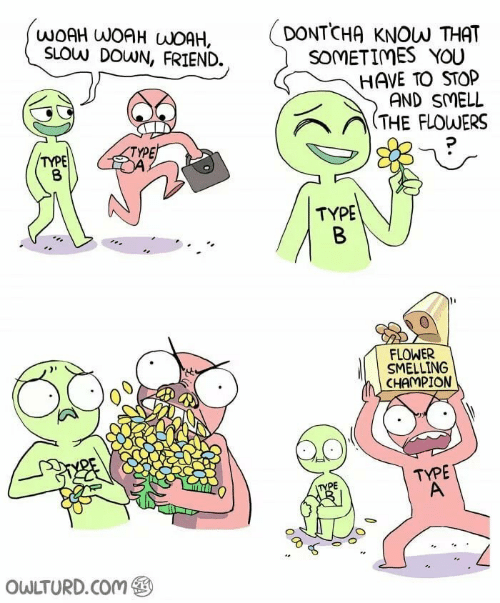 Owlturd Com: WOAH WOAH WOAH,  SLOW DOWN, FRIEND.  DONTCHA KNOW THAT  SOMETIMES YOU  HAVE TO STOP  AND SMELL  / THE FLOWERS  TYPE  TYPE  TYPE  FLOWER  SMELLING  CHAMPION  TYPE  PE  OWLTURD.Com