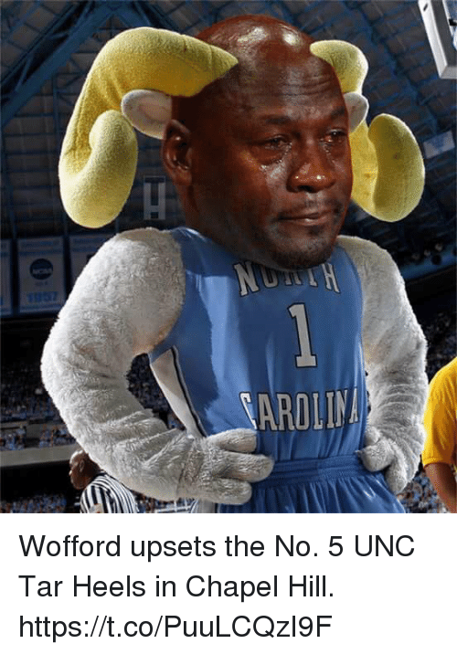 wofford: Wofford upsets the No. 5 UNC Tar Heels in Chapel Hill. https://t.co/PuuLCQzI9F