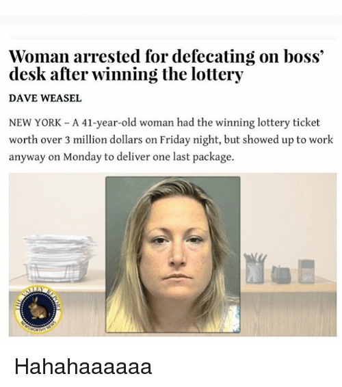 Viral Lottery Winner Defecating On Boss S Desk News