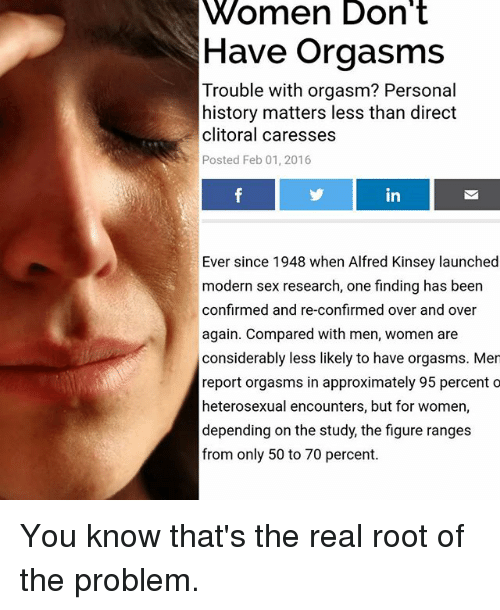 trouble with orgasm