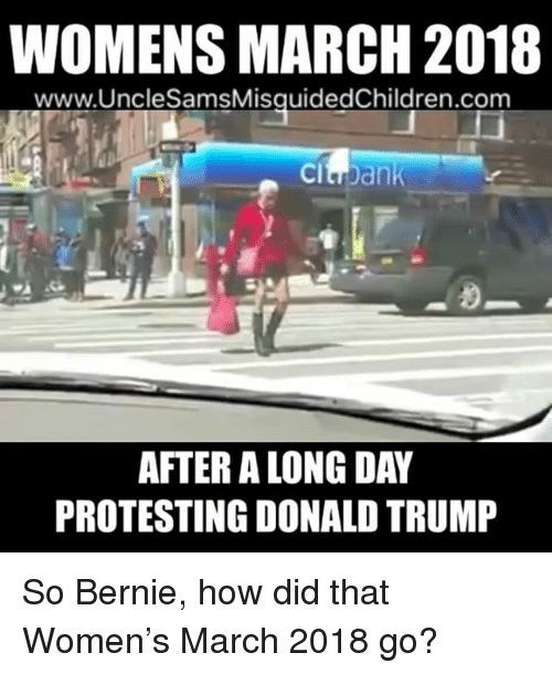 Funniest Meme March 2018 : Womens march unclesamsmisauidedchildrencom after a