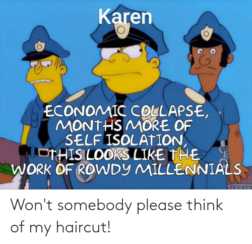 Haircut: Won't somebody please think of my haircut!