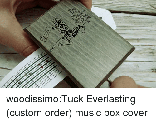 Music, Tumblr, and Blog: woodissimo:Tuck Everlasting (custom order) music box cover