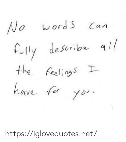 Yor: wordS  No  Can  Fully describa  the feelings  have fory  yor https://iglovequotes.net/