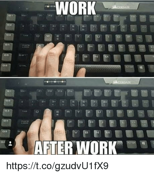 Video Games, Work, and  After Work: WORK  AFTER WORK https://t.co/gzudvU1fX9