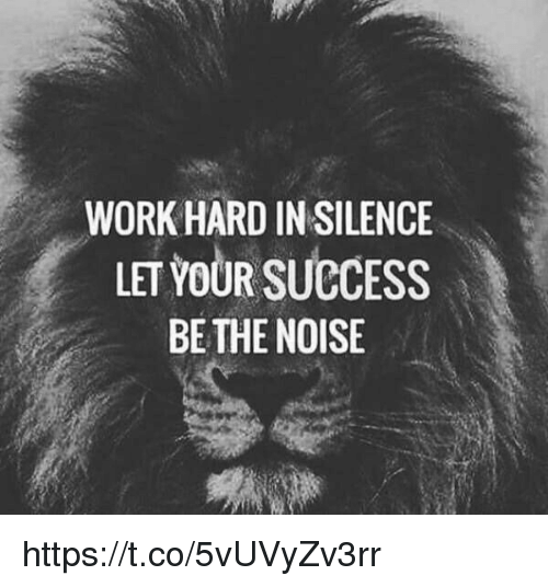 memes: WORK HARD IN SILENCE  LETVOUR SUCCESS  BE THE NOISE https://t.co/5vUVyZv3rr