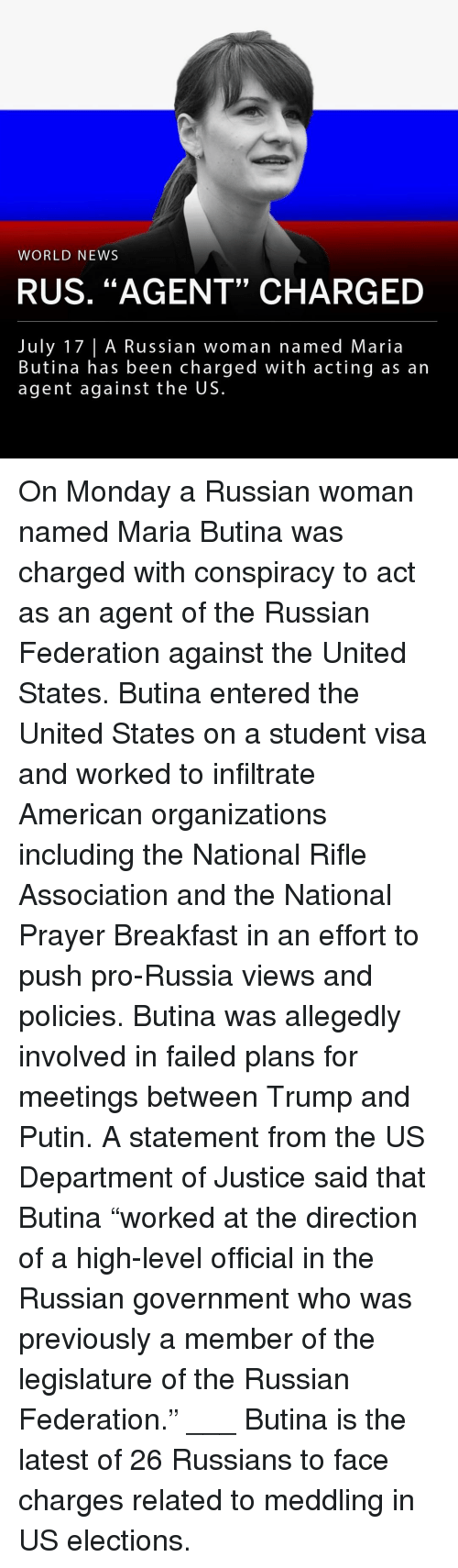 """russian federation: WORLD NEWS  RUS. """"AGENT"""" CHARGED  July 17 