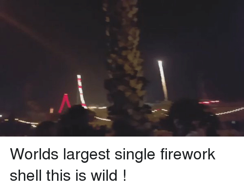 Fireworks, Wild, and World: Worlds largest single firework shell this is wild !