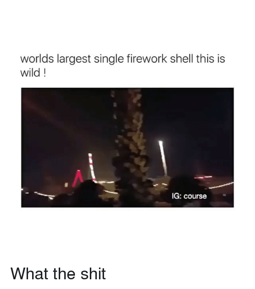What The Shit: worlds largest single firework shell this is  wild!  IG: course What the shit