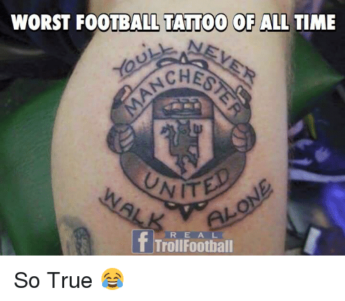 Football, Memes, and Troll: WORST FOOTBALL TATTOO OF ALL TIME  CHESS  f Troll Football So True 😂
