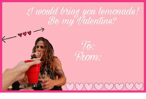 be my valentine: would bring you lemonade!  Be my Valentine?  fitomi