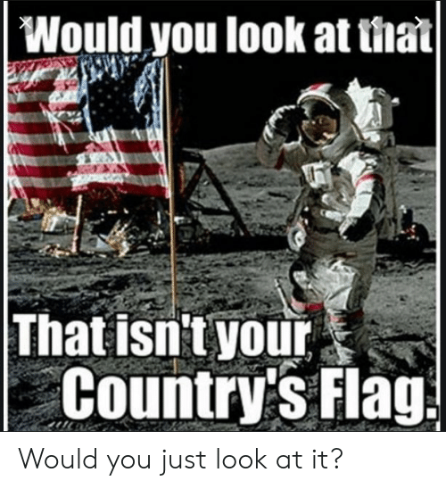 Would You Just Look At It: Would you look at that|  That isn't your  Country's Flag Would you just look at it?