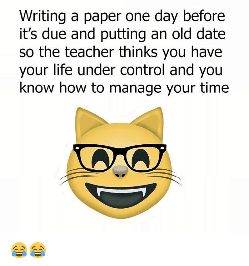 Write my paper one day