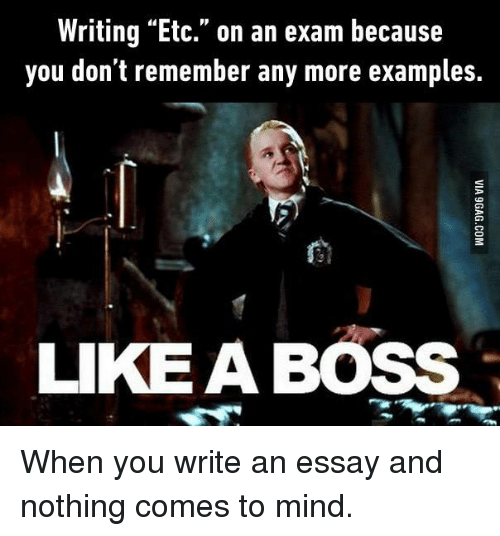 When you write an Essay?