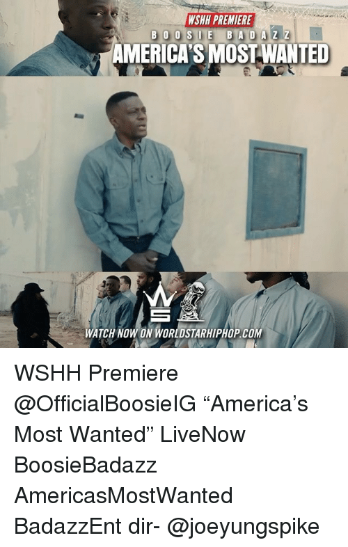 """Memes, Worldstarhiphop, and Wshh: WSHH PREMIERE  AMERICA'S MOST WANTED  WATCH NOW ON WORLDSTARHIPHOP.COM WSHH Premiere @OfficialBoosieIG """"America's Most Wanted"""" LiveNow BoosieBadazz AmericasMostWanted BadazzEnt dir- @joeyungspike"""