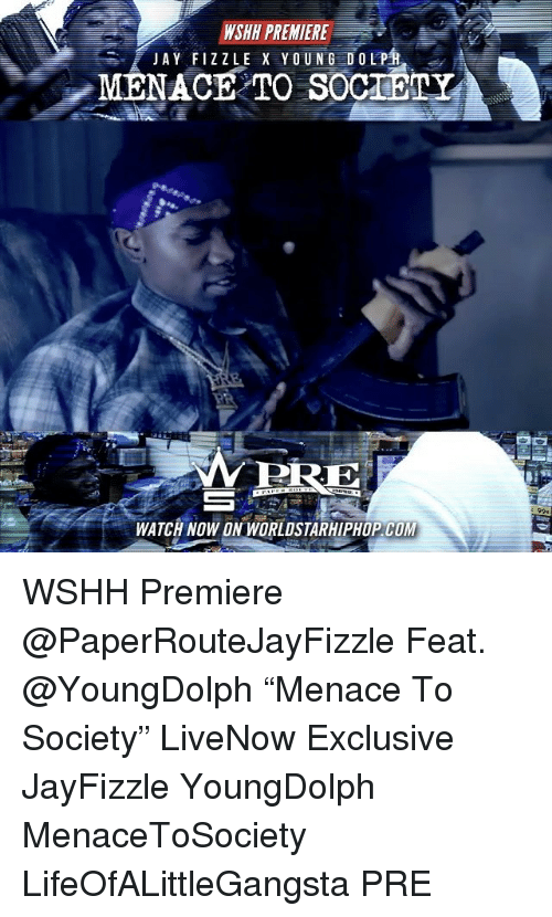 "Menacingly: WSHH PREMIERE  MERE  WATCH NOW ON WORLDSTARHIPHOP COM WSHH Premiere @PaperRouteJayFizzle Feat. @YoungDolph ""Menace To Society"" LiveNow Exclusive JayFizzle YoungDolph MenaceToSociety LifeOfALittleGangsta PRE"