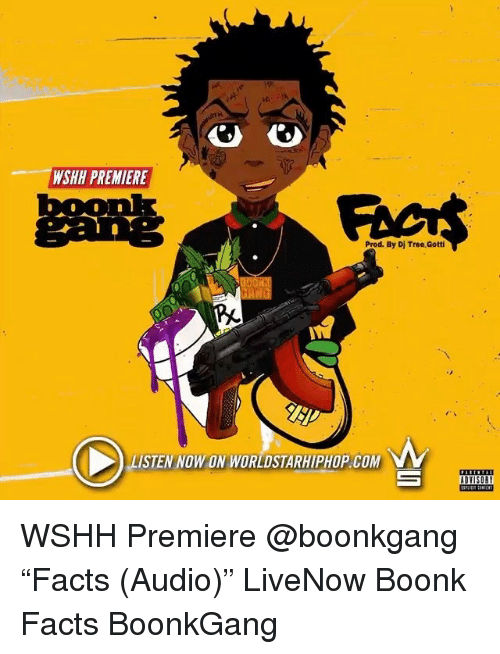 """Facts, Memes, and Worldstarhiphop: WSHH PREMIERE  Prod. By Di Tree Gotti  rs  STEN NOW ON WORLDSTARHIPHOP COM  ADVISORY WSHH Premiere @boonkgang """"Facts (Audio)"""" LiveNow Boonk Facts BoonkGang"""