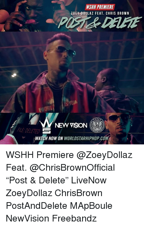 """Chris Brown, Memes, and Worldstarhiphop: WSHH PREMIERE  ZOEY DOLLAZ FEAT. CHRIS BROWN  PO%& DELETE  FWOBL  NEW VISION (  LE: DE  LETED  WATCH NOW ON WORLDSTARHIPHOP.CO WSHH Premiere @ZoeyDollaz Feat. @ChrisBrownOfficial """"Post & Delete"""" LiveNow ZoeyDollaz ChrisBrown PostAndDelete MApBoule NewVision Freebandz"""