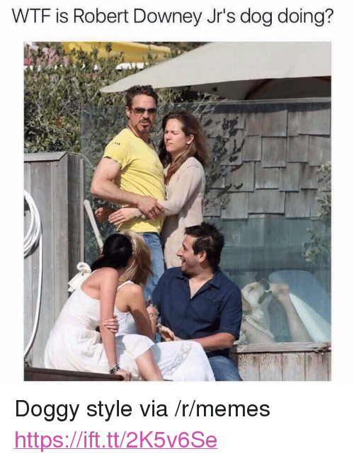 "doggy style: WTF is Robert Downey Jr's dog doing? <p>Doggy style via /r/memes <a href=""https://ift.tt/2K5v6Se"">https://ift.tt/2K5v6Se</a></p>"