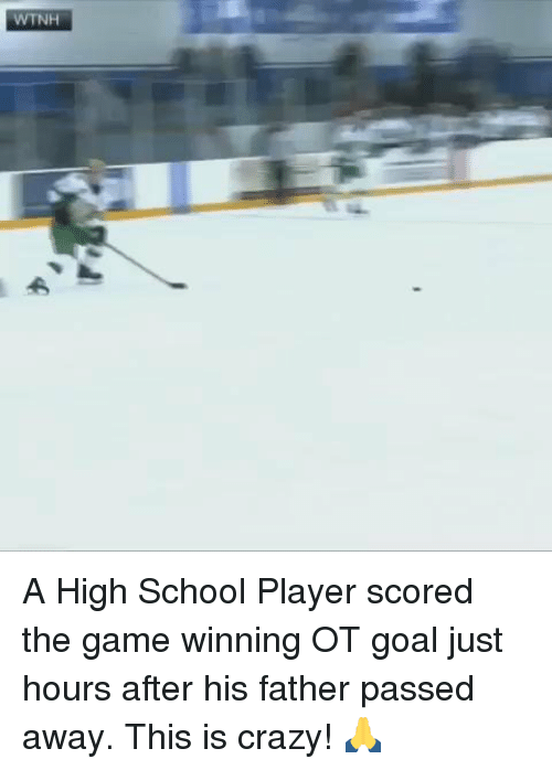 Wtnh: WTNH A High School Player scored the game winning OT goal just hours after his father passed away. This is crazy! 🙏