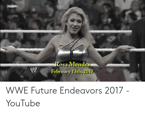 rosa mendes: WWEHD  Rosa Mendes  February 13th, 2017 WWE Future Endeavors 2017 - YouTube