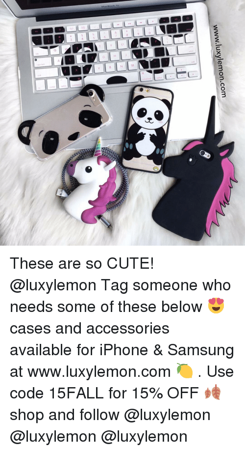 iphone: www.luxylemon.com These are so CUTE! @luxylemon Tag someone who needs some of these below 😍 cases and accessories available for iPhone & Samsung at www.luxylemon.com 🍋 . Use code 15FALL for 15% OFF 🍂 shop and follow @luxylemon @luxylemon @luxylemon