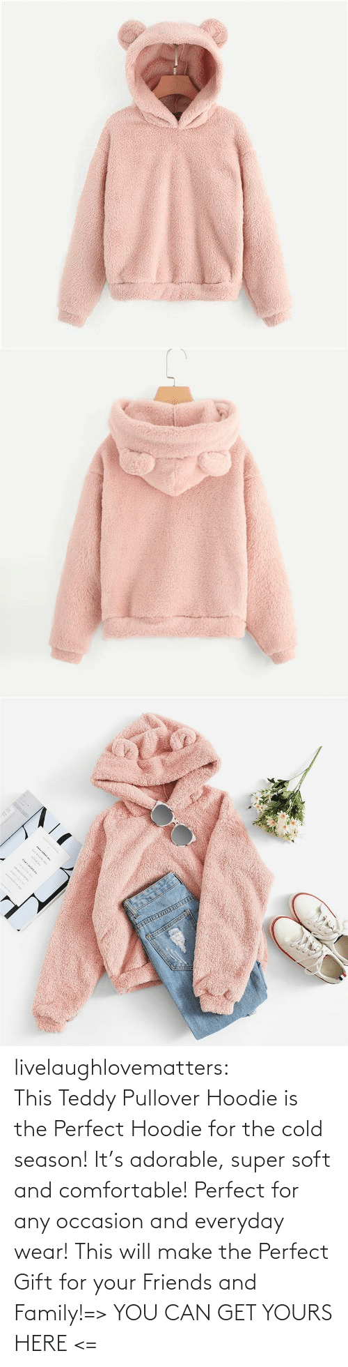 Teddy: www.w. livelaughlovematters:  ThisTeddy Pullover Hoodie is the Perfect Hoodie for the cold season! It's adorable, super soft and comfortable! Perfect for any occasion and everyday wear! This will make the Perfect Gift for your Friends and Family!=> YOU CAN GET YOURS HERE <=